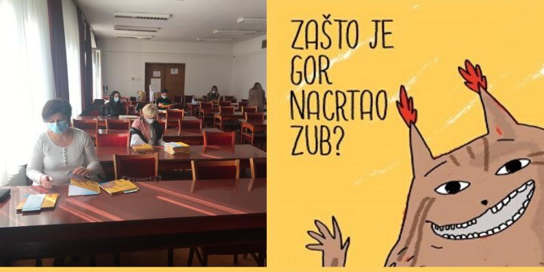 """Predstavljanje slikovnice """"Zašto je Gor nacrtao zub?"""" – Volonterska akcija projekta """"Uključene zajednice"""" u gradu Varaždinu"""