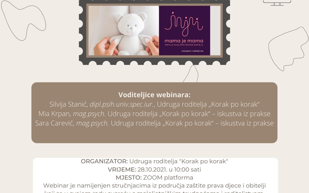 Prijava za webinar- Rizični i zaštitni faktori kod maloljetničkih trudnoća i roditeljstva